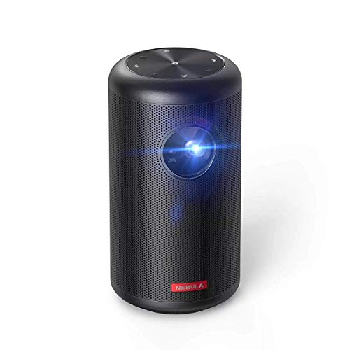 Anker Nebula Capsule II (World's First Mobile Projector, Equipped with Android TV, 200 ANSI Lumens, Autofocus Function, 8 W Speakers, DLP, Over 5000 Applications, Home Entertainment