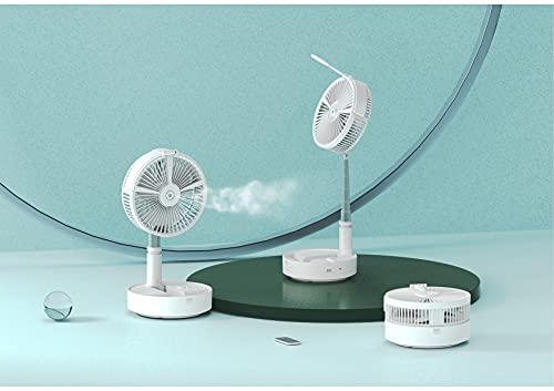 VOSTEYリビング扇風機折りたたみ式10000mAh電池お持ちいいコンパクト回線なし自動首振りUSB充電式リモコン4段階風量調節DCモーター省エネ(ホワイト)