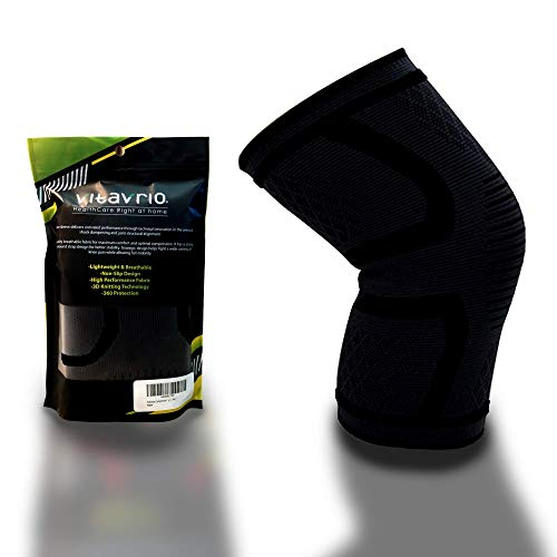Vitavrio Fitness Compression Knee Sleeve Non-slip,Elastic & Breathable Support for Sports,...