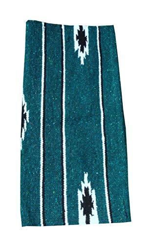 Reitsport Amesbichler Westernpad grün Pony Sattel Navajo Decke 26 x 26 Inch, 66 x 66 cm Western