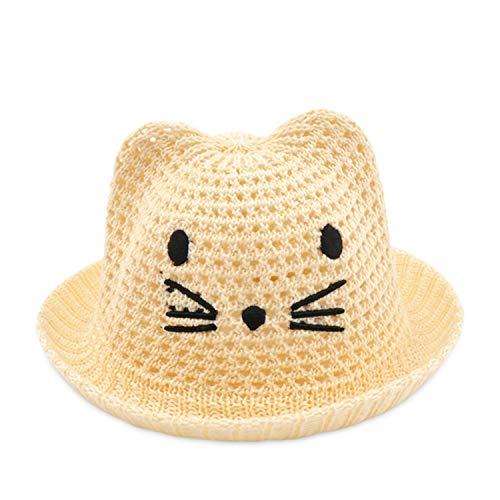 DORRISO Lindo Niños Niñas Sombrero de Paja Bebé Sombrero de Sol para Bebé Gorros Transpirable Viajar Playa Bebé Sombrero de Paja