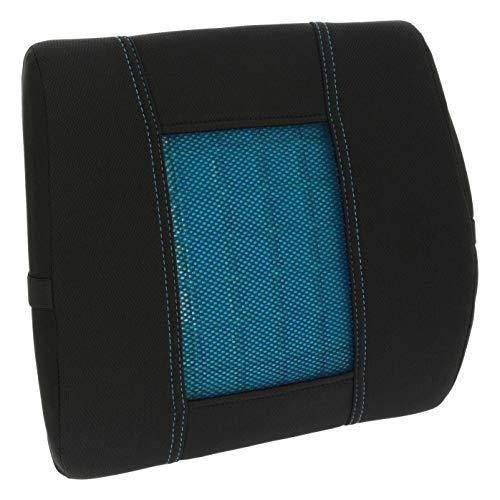 Sumex Cojin Soporte Lumbar de Asiento Coche, Respaldo Lumbar viscoelastico con Gel para Coche, Oficina o Cualquier Tipo de Asiento