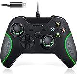 Wired Controller für Xbox One, Lampelc Xbox One Controller mit 3,5 mm Headset Audio Jack, Xbox Controller One Gamepads Joysticks für Xbox One / One S / One X / PS3 und PC (Schwarz)
