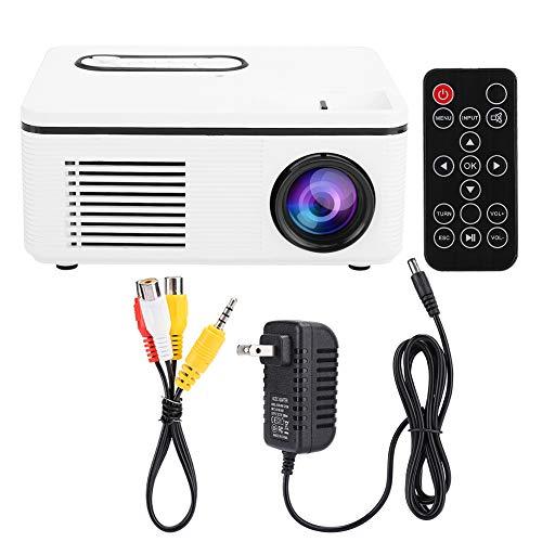 Soapow S361 Mini Home Portable LED Projector 1080p HD for Desktop / DVD / Mobile Phone / Speaker(US 100-240V)(White )