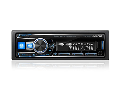 Alpine UTE-93DAB 200W Bluetooth car media receiver - Car Media Receivers (1 DIN, 200 W, 2.0 channels, 5-20000 Hz, 65 dB, Rotary)