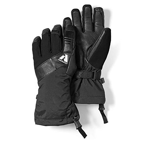 Eddie Bauer Mens Claim Touchscreen Gloves, Black Regular XL