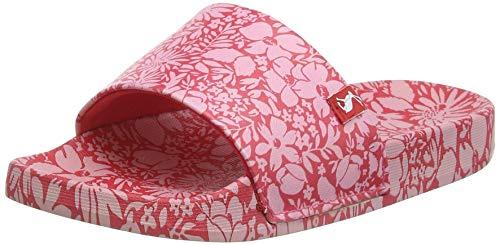 Joules Poolside, Sandalias deslizantes Bebé-Niñas, Rojo Ditsy Floral, 33 EU