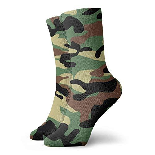 Calcetines Transpirables Marrón Oscuro Camouflage.png Crew Sock Exótico Moderno Mujeres Y Hombres Impreso Deporte Atlético Calcetines 30 cm Calcetines