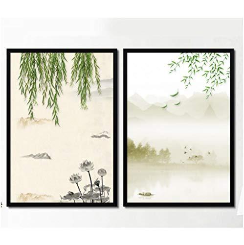 Jwqing weidehek moderne kunstdruk foto Wall Art schilderij op canvas, 40 x 60 cm x 2 cm, zonder lijst.