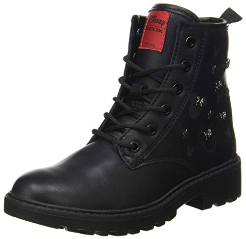 GEOX J CASEY GIRL D BLACK Girls' Boots Combat size 37(EU)