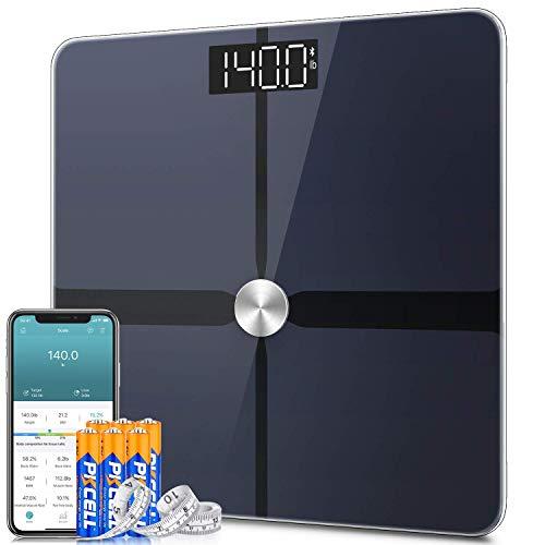 1byone Bilancia Pesa Persona Digitale Bilancia Pesapersone Impedenziometrica ITO con 14 Dati di Misurazione del Corpo Peso/Massa Grassa/BMI/BMR, Massa Muscolare, Massa Ossea, Proteine, 180kg/400lb