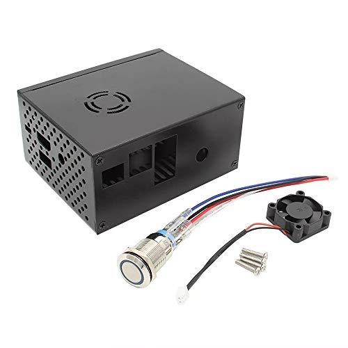 ZXJUAN Draadloze Controle Raspberry Pi X820 V3.0 SSD&HDD SATA Opslag Board Bijpassende Metalen Kast/behuizing + Koeling Ventilator Kit + Power Control Switch