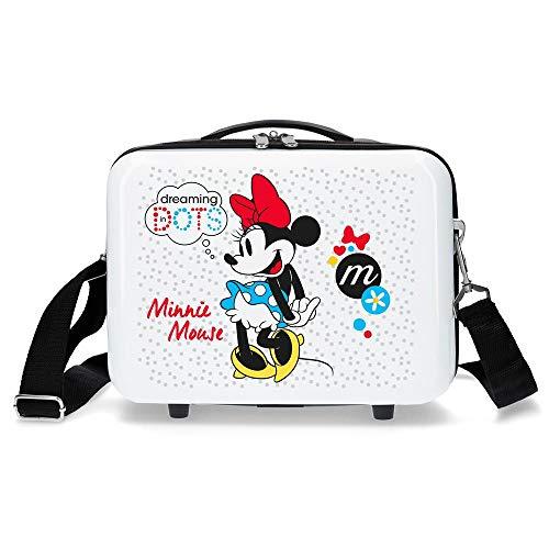 Disney Minnie Enjoy the Day Trousse de toilette adaptable Blanc 29x21x15 cms ABS