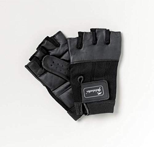 Homecraft Leather Wheelchair Gloves, Large, Black, Finger-Less, Padded Hand Protection For Manual Wheelchairs, Biking, Cycling, & Fitness, Adjustable & Breathable (Eligible for VAT relief in the UK)