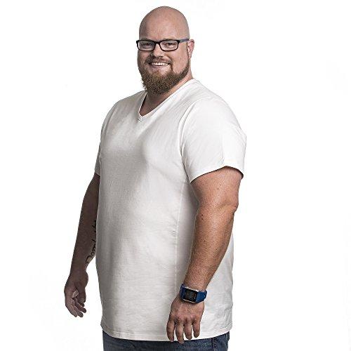 Alca Fashion Camiseta 7XL clásica Cuello en V (2 T-Shirt) para Hombre, Tallas Extra Grande XL-B - 8XL-B | Alca Classic Tshirt V-Neck (2 Pack / 2pk) tee V-Neck