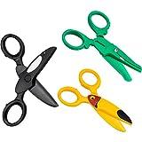 Winfred 3Pcs Tijeras Preescolar Tijeras de Seguridad para Niños, Tijeras para Niños, Tijeras para Entrenamiento, para Manualidades Papel, Azul, Amarillo, Verde