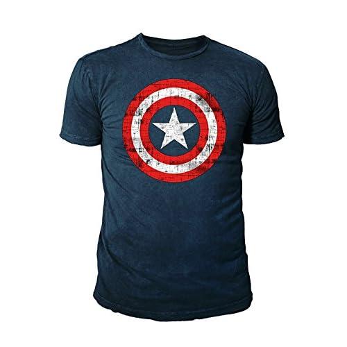 Marvel - Canotte - Logotipo - Basic - Collo a U - Uomo Blu Oltremare