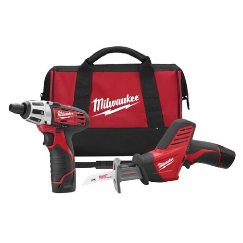 Milwaukee GIDDS2-811052 12-Volt Compact Drill and Hackzall Saw Combo Kit