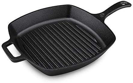 Westinghouse Cast Iron Seasoned Grill 10.5-Inch Square Pan Manufacturer Mesa Mall OFFicial shop