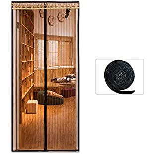 JUE Guo Household Kitchen Bedroom Anti-Mosquito Encryption Magnetic Curtain Ventilation Soft Velcro Magnetic Screen Door Summer Curtain Full Frame Strong Silent Velcro Grid Screen Door:Isfreetorrent