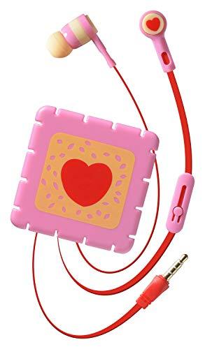 Cellularline AUCUTEANDSWEET5 Leuke en Zoete Oortelefoon met Microfoon en Grappig Kleurrijk Hoesje - Roze
