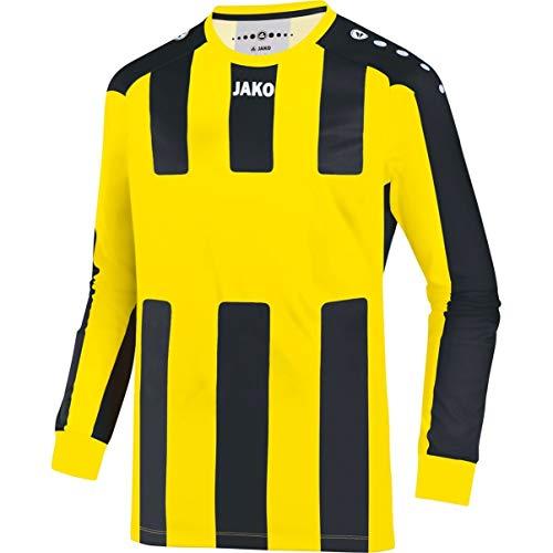 JAKO Fútbol Brasil la Camiseta Milan, Todo el año, Infantil, Color limón y Negro, tamaño 128