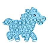 Holster Brands HB Silly Bubble Push Pop Toy, Fun Fidget and Sensory Silicone Toy for Kids and Adults (Blue Pony)