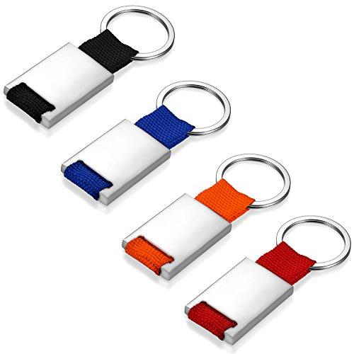JewelryWe Llavero para Parejas DIY Llaveros para Grabar Personalizados Llaveros de Colores para Hombre Mujer 4 Piezas, Buen San Valentin