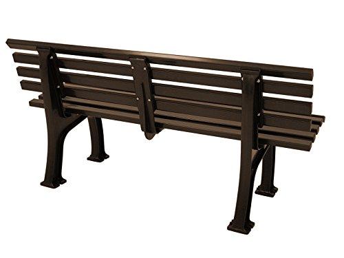 Wetterfeste Parkbank 3-sitzer, Kunststoff braun - 3
