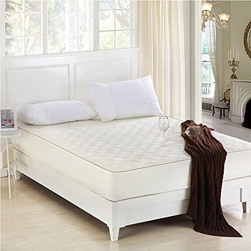 XGguo colchón Acolchado, antialérgico antiácaros, Sábana de Cama cepillada Pure Color Hotel-Beige_180 * 200cm