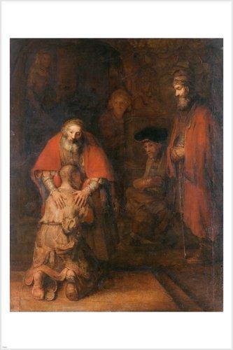H. von Rembrandt die Rückkehr des verlorenen Sohn 24x 36Fine Art Poster