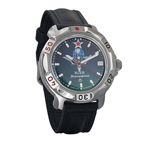 Vostok Komandirskie 2414 811021 - Reloj mecánico, diseño del ejército militar ruso (VDV)