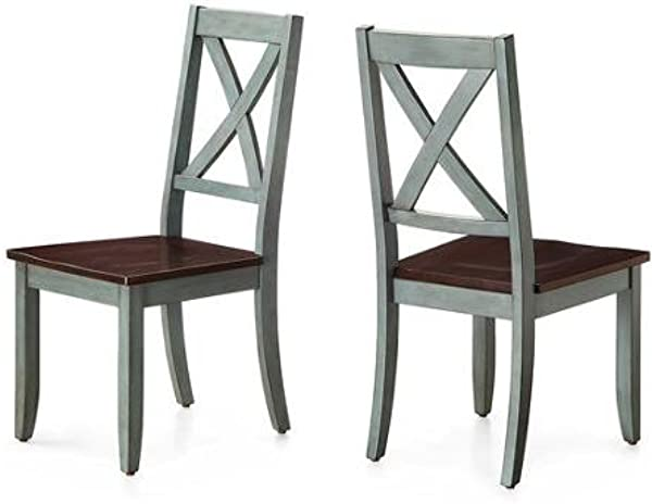 Sturdy Better Homes And Gardens Maddox Crossing Dining Chair Blue Set Of 2