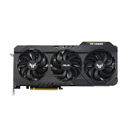 ASUS TUF Gaming GeForce RTX 3060 Ti V2 OC Edition Scheda Grafica, 8 GB GDDR6, PCIe 4.0, 2 HDMI 2.1, 3 DisplayPort 1.4a, Funzione Boost Clock, Tre Ventole a Doppio Cuscinetto, GPU Tweak II, Nero