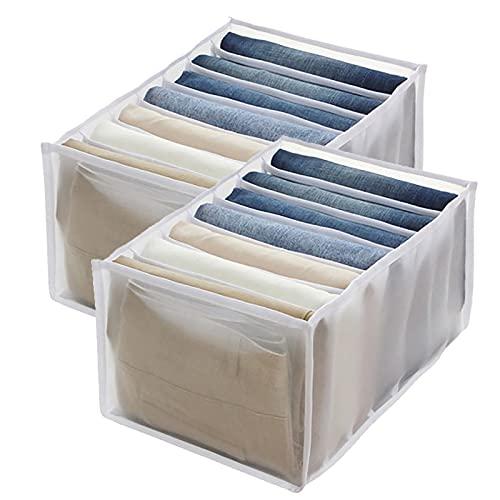 armadio organizzatore LZOK scatole portaoggetti per armadio con scomparto per jeans