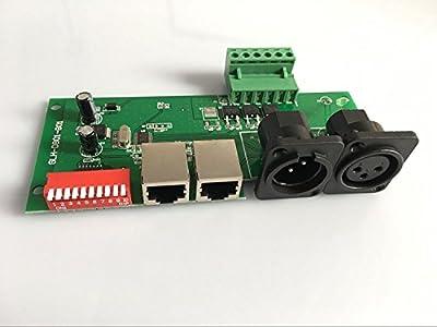 DMX 512 LED Decoder Controller for RGB Tape Strip Light Dimmer Driver DC12-24V 10A/CH(3 Channel)