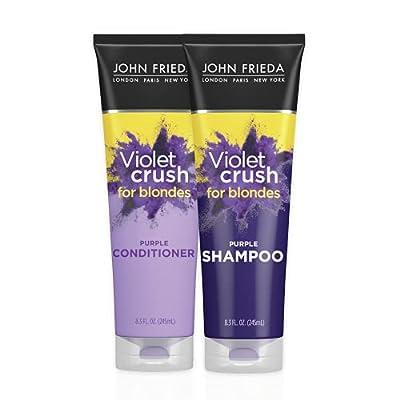 John Frieda Violet crush purple shampoo 8.3 fl oz with John Frieda Violet crush purple conditioner 8.3 fl oz by