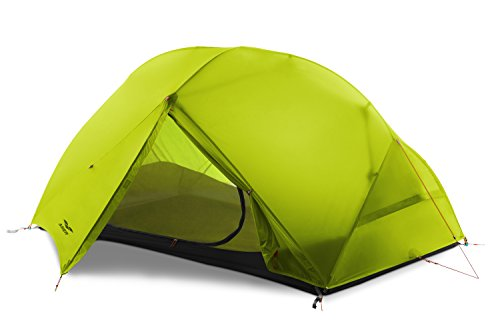 MIER 2-Person Camping Tent Easy Setup Lightweight Backpacking Tent with Footprint, 3 Season and 4 Season Dome Tent, Green, 3 Season
