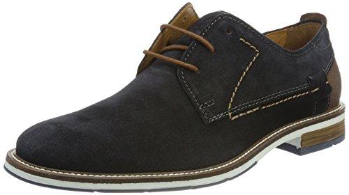FRETZ men Andrew, Zapatos de Cordones Derby Hombre, Azul Oceano, 40 EU