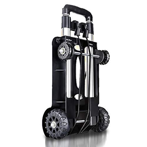 キャリーカート 3段階 超コンパクト 高さ調整 折りたたみ式 安定感抜群 耐荷 軽量 4WDタイヤ 旅行用品 NIMOKYA