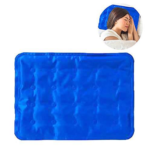Almohada de gel de enfriamiento para humanos, 60 x 90 cm, multiusos reutilizable gel de refrigeración almohadilla almohadilla almohadilla almohadilla de relleno de enfriamiento para mejorar el sueño