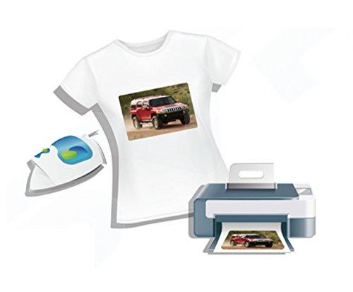 2AINTIMO Carta Transfer Ink-Jet Fogli per T-Shirt Tessuti Chiari O Scuri f.to A4 (21x29,7cm) (Tessuti Chiari, 1)