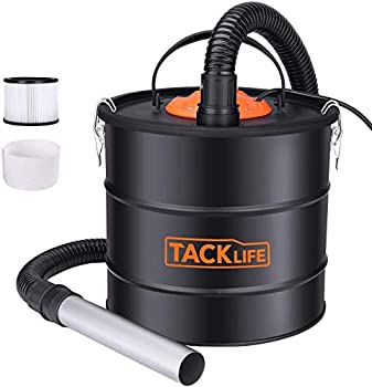 TACKLIFE Ash Vacuum with 5 Gallon Capacity and 800w Fireplace Vacuum Portable ash Collectors with Metal Hose and Aluminum Nozzle for fireplaces Wood stoves Pellet stoves and BBQ Grills-PVC03A