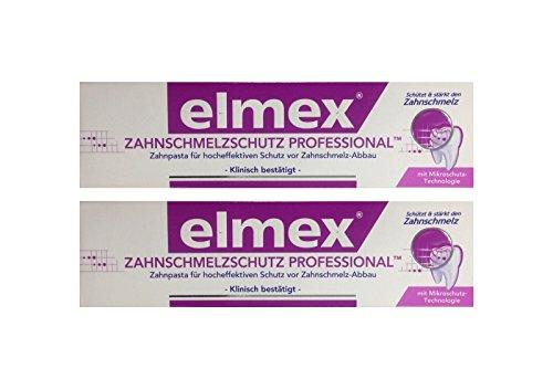2x ELMEX Zahnschmelzschutz PROFESSIONAL Zahnpasta 75ml PZN 11072327 Zahncreme