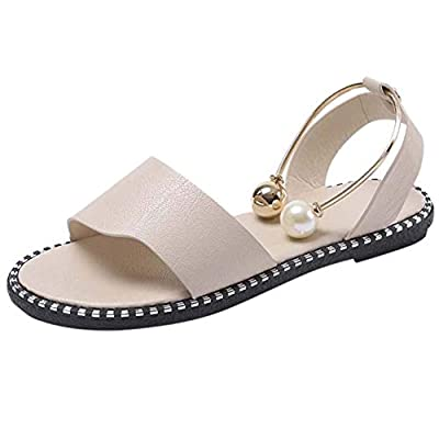 Flat Sandals for Women Summer Sandals Rome Slip-On Breathable Non-Slip Ladies Shoes Slip Solid Flat Sandals for Girls