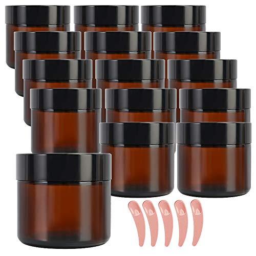 amber glass salve jars - 3