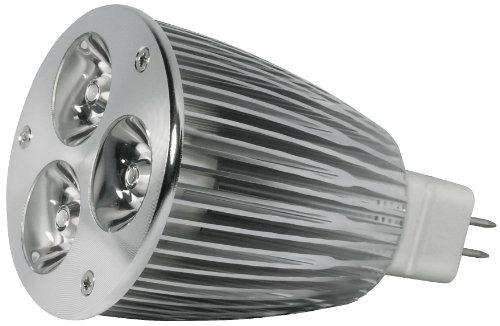 Transmedia LP1-36SQL Power Spot LED 12 V 6 W GU5,3 Blanc Chaud