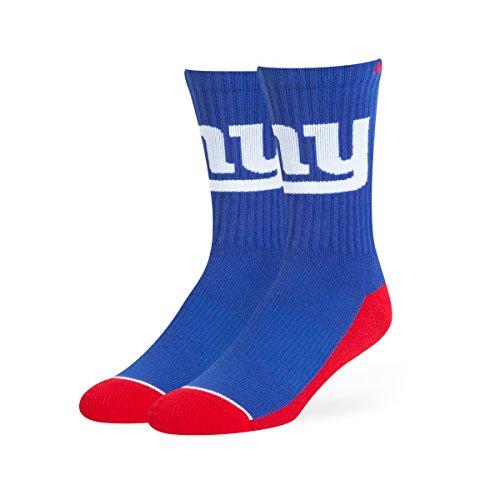 OTS NFL New York Giants Men's Anthem Sport Sock, Team Color, Large