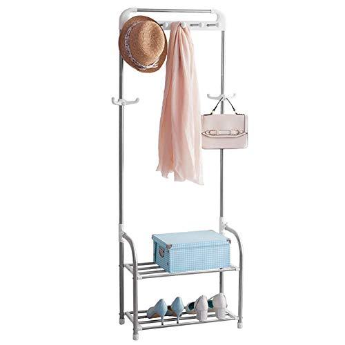 JKUNYU Rack de Ropa Hogar Perchero Entrada Suelo Rack Dormitorio Ropa de Uso múltiple Simple Rack Sala de Acero Inoxidable Simple Percha