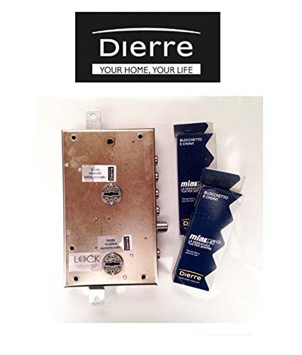Cerraduras ATRA DIERRE para puertas blindadas para aplicar con doble cerradura de seguridad, entrada 70 mm, SER7162 izquierda